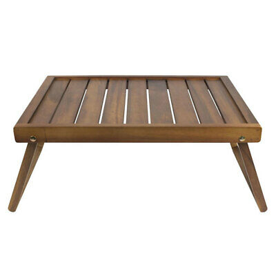 Davis & Waddell Acacia Wood Breakfast Tray/Serving Carry Bed Table Folding Legs