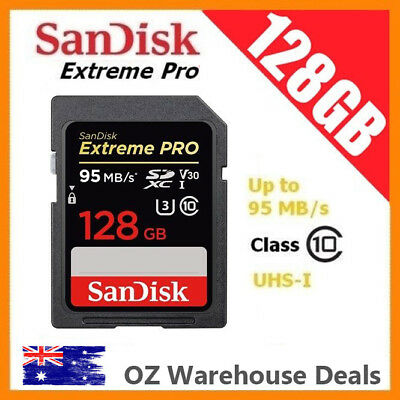 SanDisk Extreme Pro 128GB SD SDXC UHS-I U3 Class 10 SD Memory Card 95MB/s V30