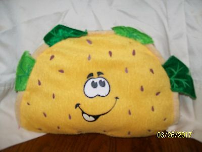 Taco Plush With Happy Smiling Face