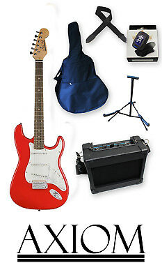 Beginner Electric Guitar Pack - Axiom Discovery Red