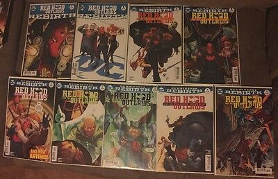 10 comics lot Red hood & the outlaws 1 2 3 4 5 One Shot Variant Set rebirth DC D
