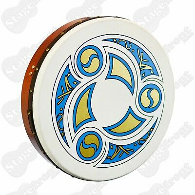 """Bodhran 12"""" Waltons With """"Trinity"""" Logo. Beater Included - New"""