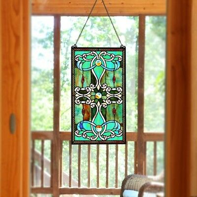 Stained Glass 26 Inch Panel For Window Suncatchers Tiffany Style Decor Victorian