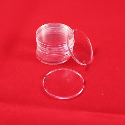 ROUND (CIRCLE) TRANSPARENT / CLEAR BASES for Roleplay Miniatures (25mm)