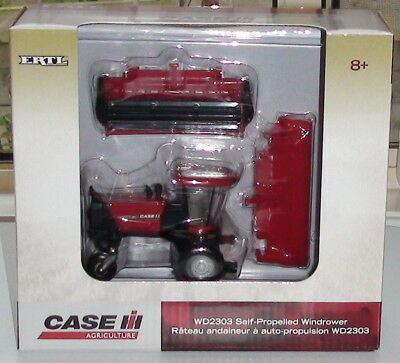 Case Ih Wd2303 Self-Propelled Windrower Diecast 1/64 Scale Ertl New