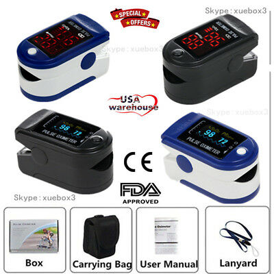 FDA CONTEC Finger Pulse Oximeter,SPO2 Monitor,Blood Oxygen Saturation,CMS50D/DL