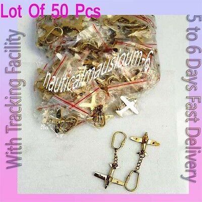 Beautiful Airplane Solid Brass Key Rings 50 pcs With keyring Brass KeyChain