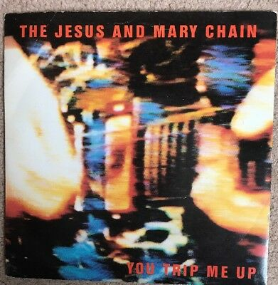 """The Jesus And Mary Chain You Trip Me Up UK Blanco Y Negro 1985 7"""" Vinyl Single"""