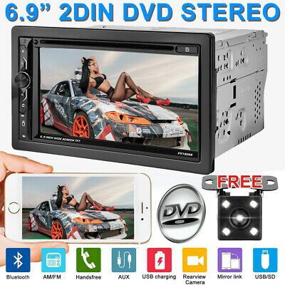 2Din HD Car Stereo DVD CD Player Bluetooth Auto Radio + Backup Parking Camera