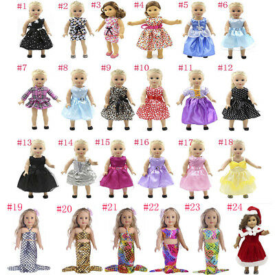 Mermaid Party Dress for American Girl Our Generation Doll 18'' Dolls Clothes AU