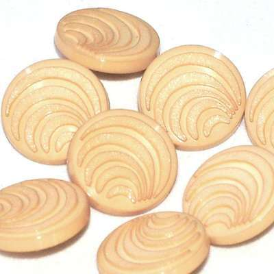 Mercerie lot de 8 boutons ronds coloris marron clair beige 22mm button