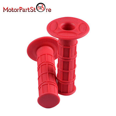 Throttle Red Handle Hand Bar Grips For Honda XR CRF 50 70 Pit Dirt Trail Bike
