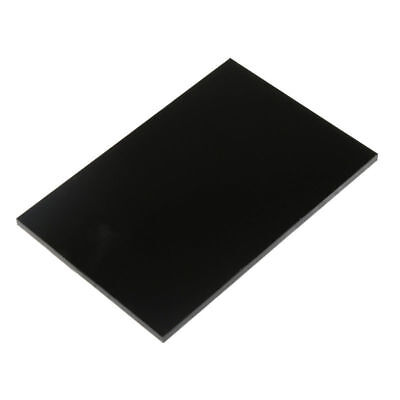 Black Acrylic Plexiglass Sheet PMMA Plastic Panel 8x8cm-30x40cm DIY Model Craft