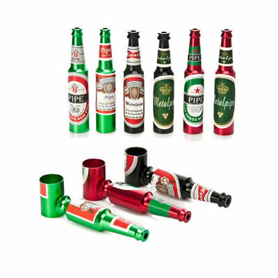 Beer Bottle Smoking Tobacco Pipe Enchase Cigarettes Cigar Pipe Metal Handle Gift