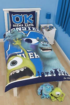 Brand New James Mike Disney Pixar Monsters Reversible Single Decorative Bed Set
