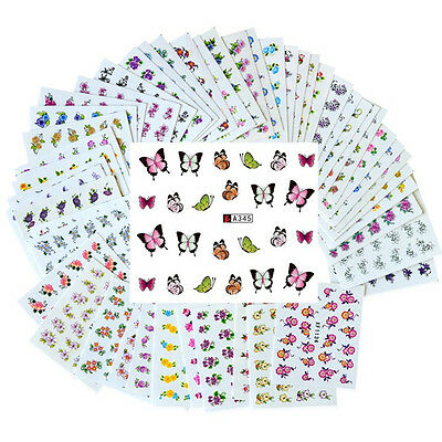 Lot 1000 Sticker Autocollant Decoration Tatouage Ongle Manucure Nail Art Ong051