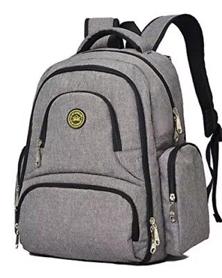 1 : A4 YuHan Oxford Baby Diaper Bag Nappy Backpack  Insulation Pocket Grey