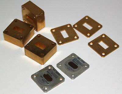 microwave waveguide parts Ku band WR62 11,8 to 18 GHz, e.g. pressure windows MA