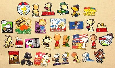 30 Peanuts Collectible Pins---Charlie Brown+ Snoopy+ Lucy+ Linus+ Woodstock