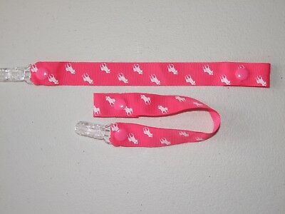 Dummies Clips ,Holder/Dummy/Soother/Pacifier/chain hot pink