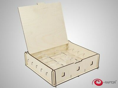 E-Raptor Universal Storage Box Medium en bois pour jetons dés 2250 cartes 317955