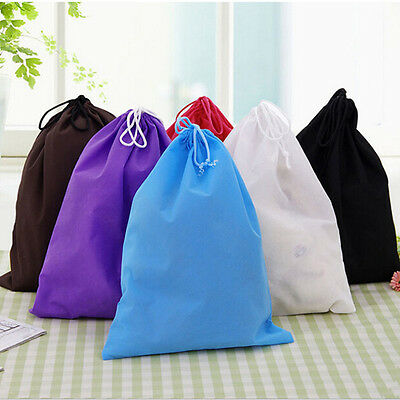 Portable Shoes Bag Travel Storage Pouch Drawstring Dust Bags Non-woven Fad DL