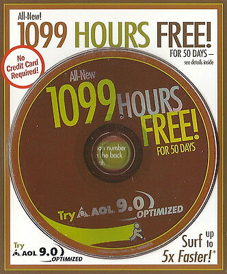 2003 Aol 9.0 Optimized America Online Cd 1099 Hrs
