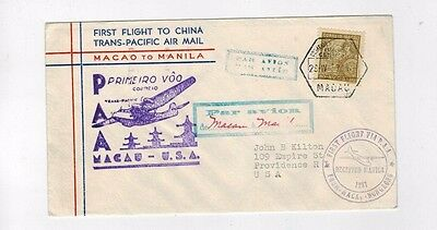 China Macao to Manila 1937 Trans-Pacific First Flight