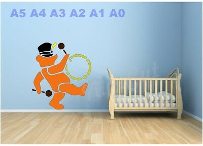 Child/'s Room Wall-Cards-Picture A5 A4 A3 A2 A1 A0  #TEDS006 Teddy Bear stencil