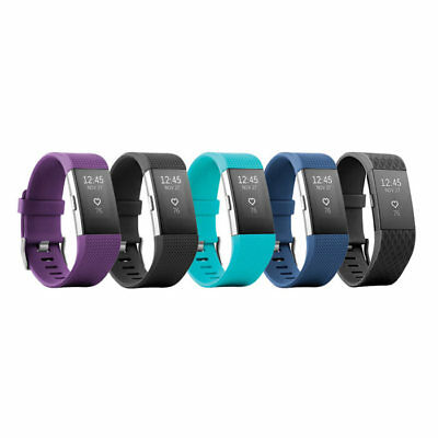 Fitbit Charge 2 Heart Rate Monitor Fitness Tracker Wristband - All Colors