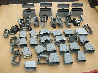 Lot of Harting & Thomas Betts Wiring Hoods and a few inserts  NEW