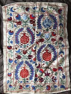 "Uzbek Handmade Suzani - Wall Decor, New, 35x25"" (89x63.5cm), Shipped from USA"