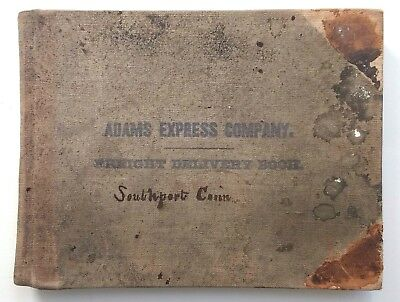 SOUTHPORT Fairfield County CT Handwritten Ledger Railroad & Stagecoach Messenger