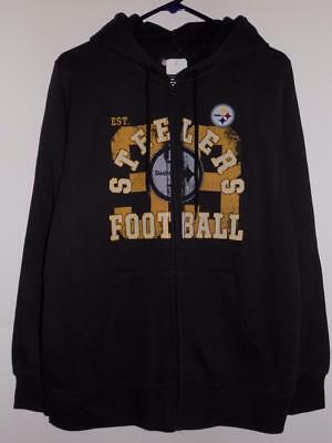 Pittsburgh Steelers Hoodie Women's Full Zip Sweatshirt Nwt