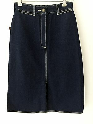 Fabulous Auth Vtg 70S 80S Jordache Denim Jean Pencil Skirt Size Small