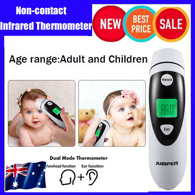 Non-contact Ear & Forehead LCD Digital Infrared Thermometer Baby Adult Monitor T