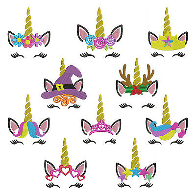 Princess Unicorn * Machine Embroidery Patterns * 10 Designs, 4 sizes