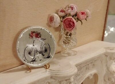 1:12 dollhouse miniatures handmade ceramic decorative plate