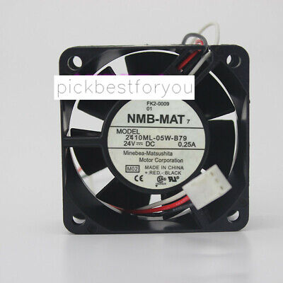 NMB 2410ML-05W-B79 cooling fan DC24V 0.25A 4.56W 60*60*25MM 3pin #MF68 QL