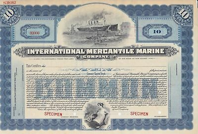 Very Rare International Mercantile Marine Titanic Specimen Stock Certificate WOW
