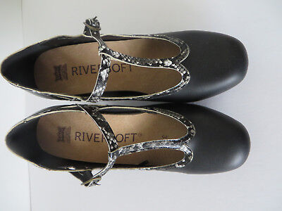 Black Womens Dance, Work, special Occasion shoes heels Riversoft Size 37/size 7