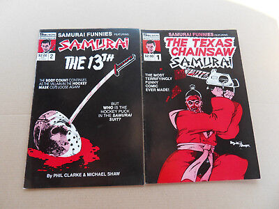 Samurai Funnies 1 - 2 . Lot Complet . Featuring : ... Solson 1986 . VF - minus