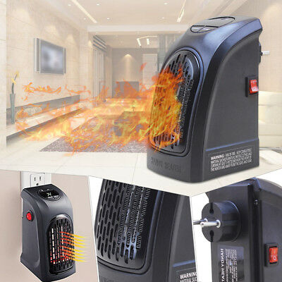 350W Portable Mini Wall-outlet Space Heater Plug-In Home Office Handy Adjustable