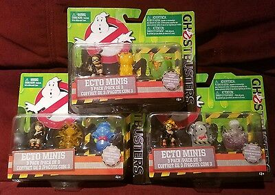 2016 Ghostbusters Ecto Minis Pack Set Erin Jillian Abby Exclusive Figures Sealed