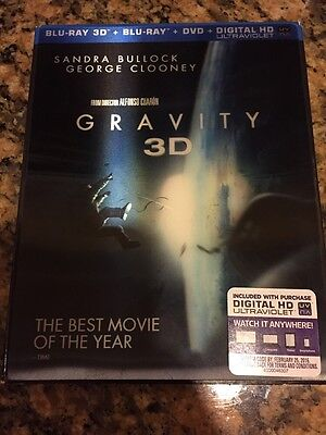 GRAVITY BLU-RAY DVD NEW BLU-RAY/DVD Like New Includes both Discs & Sleeve