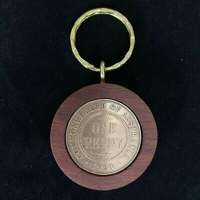 90th Birthday Gift Present 1928 Jarrah Penny Keyring other years available