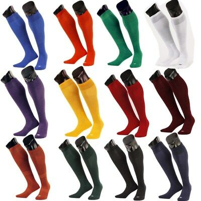 Mens Boys Sports Football Soccer Rugby Plain Long Knee Socks Cotton Stocking PS