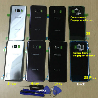 A++Rear Glass Back Cover Panel Camera Frame For Samsung Galaxy S8 G950 S8+ G955