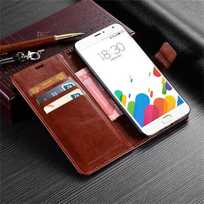 Deluxe Leather Wallet Card Case Cover Holder For Meizu M3 M5 M6 Note MX6 Pro 5 6