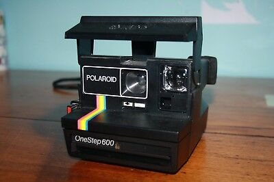 Vintage Retro POLAROID OneStep 600 INSTANT FILM CAMERA Rainbow Stripe Camera